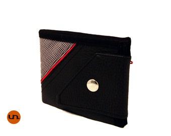 Angle, Handmade Personalized Wallet, Plaid, Vegan Friendly, Vegan Leather Wallet, Mens Wallet, Womens Wallet, Billfold, Bifold, UNUSUAL