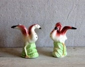 vintage flamingo salt and pepper shakers 1950s
