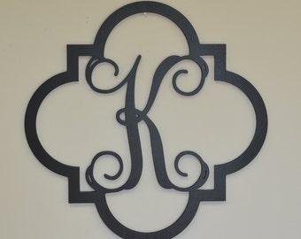 Wooden Monogram Initials - Monogram Door Hanger - Wooden letters - wall hanging