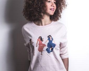 Sweat-Shirt 3 Brown Girls just have fun