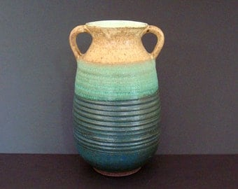 Ceramic vase, blue vase, pottery vase, tall vase, stoneware, handmade, high fired