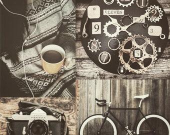 Bike Enthusiast Clock