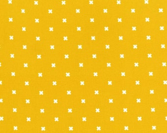 Cotton & Steel Fabric, XOXO in Dandelion,  Modern Quilting, Fabric by the Yard, Geometric, Basic Collection, XOXO Pattern