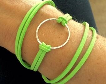 Lime Green Wrap Bracelet Sm