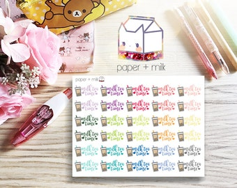Milk Tea Time Planner Stickers