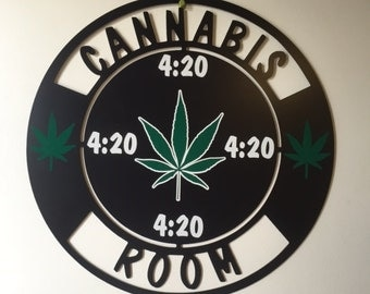 Cannabis Room Wall Sign