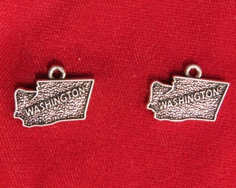 "BULK! 15pc ""Washington"" charms in antique silver style (BC1087B)"