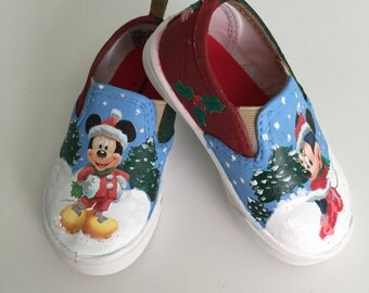 Mickey and Minnie Christmas shoes