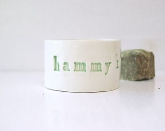 Sale. HammyHam Ham Hamster Bowl. Very Small Bowl For Very Small Companions.  In Mint.