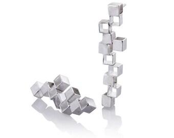 ON SALE Minimalist Jewelry - Minimalist Earrings -  Minimalist Silver Jewelry