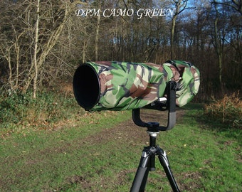 Waterproof Canon 200-400 mm F4 L IS USM  Camera and Lens Rain Cover with carrying Pouch, 4 colours avaialble