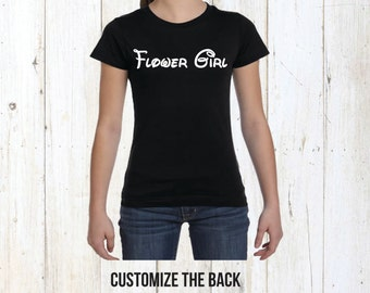 Flower girl shirt, flower girl gift, wedding party shirt, girls shirt, girls clothing