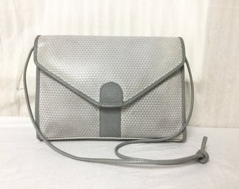 Liz Claiborne,Gray purse,bag,pvc, Leather, Shoulder Bag