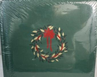 12x12 Green Holiday Wreath Scrapbook