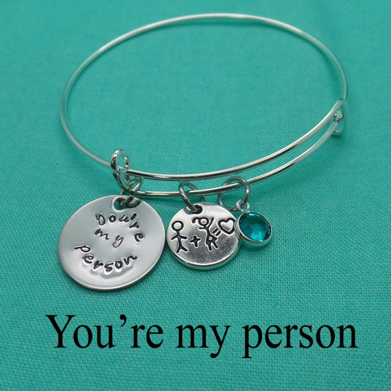 items similar to you re my person jewelry bangle bracelet