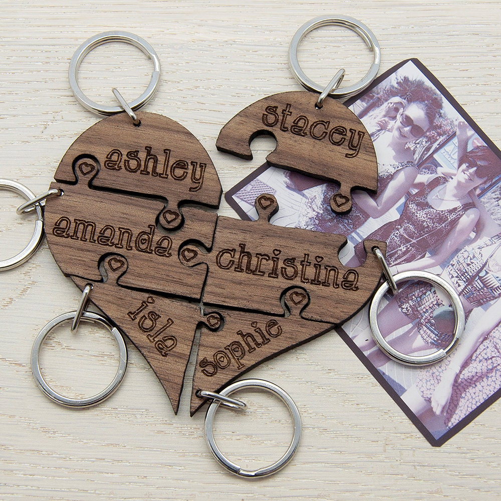 Wedding Gift Ideas For Friends Uk : Squad Goals Best Friend Keyrings Up To Six Best Friends