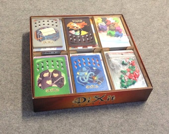 Dixit  board game, wood insert to store all components, storage solution