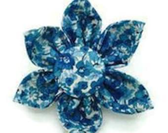 Blue Floral Dog Collar Attachment F-5020