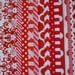 Christmas Bundle, Red and White Fat Quarter,  16 Fat Quarters, Houndstooth, Damask, Quatrefoil, Chevron, Polka Dot, Cotton Sewing Material