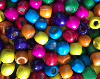 100 PC Dreadlock Beads,colorful wooden Beads
