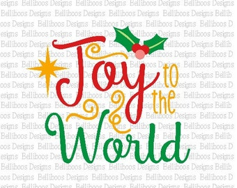Christmas svg - Christmas cut file - Holiday svg - Holiday Cut File - svg files - dxf files - cutting files - Joy to the World