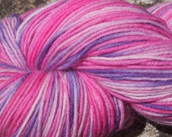 July Pinks #7 - Hand Dyed 4 ply sock yarn 100g - Superwash