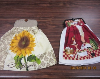 Hanging Potholder Dish Towel, Potholder Dish Towel Set, Kitchen Gift, Housewarming Gift