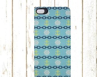 Nautical IPhone Case, Anchor IPhone Case, Beach IPhone Case, Blue Phone Case