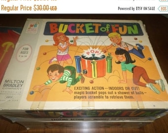 Save 30% Today Vintage 1968 Milton Bradley Game No 4800 Bucket of Fun Neat Old Game