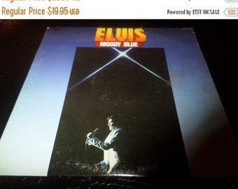 Save 70% Today Vintage 1977 LP Record Moody Blue Elvis Presley RCA Records Near Mint Condition Blue Vinyl 324