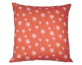 DANDELION pillowcase korall red white dandelion Blowball 40 x 40 cm