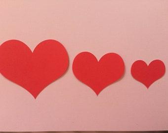 Heart Die Cut - Scrapbooking - Cupcake Picks - Paper Craft - Confetti