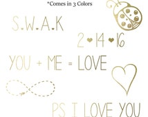 INSTANT DOWNLOAD Valentine's Day Vol.2 Word Art Overlays, Digital Scrapbooking, Card Making, Printing and Much More!