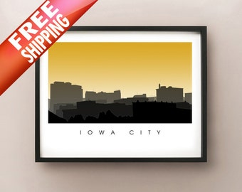 Iowa City Skyline