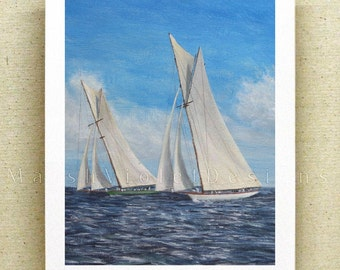 Sailboat Print, Sailboat Art, Sailing Art, Nautical Print, Nautical Decor, Ship Print, 12x16 inch large fine art print, yacht race
