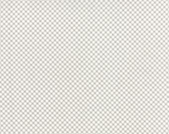 Bespoke Blooms Gingham Pebble Grey - 1/2yd