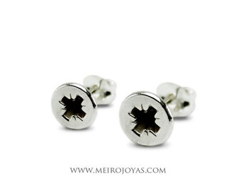Screw Earrings Sterling Silver / Pendientes Tornillo Plata 925
