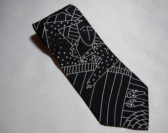 I Call Your Name Beatles rhinestone necktie
