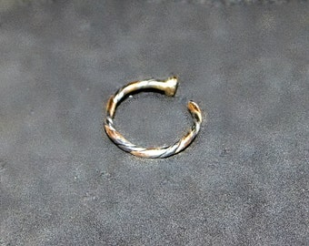 Nose Ring solid  20k Gold and Palladium