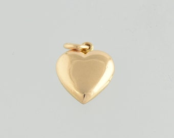 Victorian Gold *Puffy Heart* Pendant LOCKET
