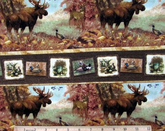 Moose Pheasant Fabric From Giordano Studios By the Yard