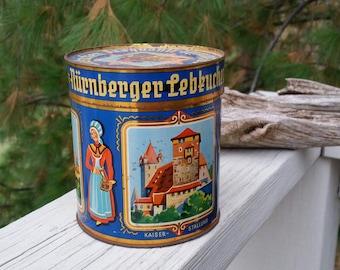 Nurnberger Lebkucken German Cookie Tin