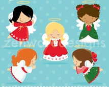 Christmas Angels Clipart