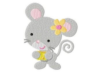 Embroidery Design Mouse 4'x4' - DIGITAL DOWNLOAD PRODUCT
