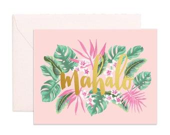 Mahalo Greeting Card