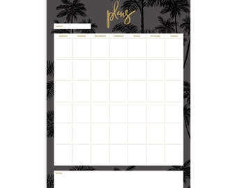 Night Palms A4 Notepad