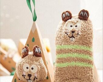 Baby Cartoon Character Winter Christmas Socks - FREE SHIPPING WORLDWIDE