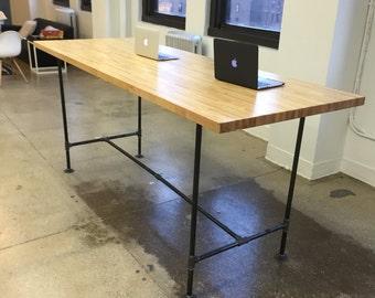 Butcher block desk Etsy
