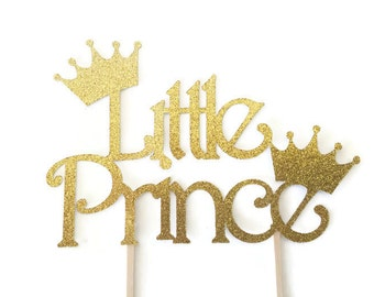 Little Prince Baby Shower Cake Topper, Prince Cake Topper, Deocrations