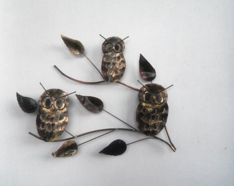 Metal Owl Wall Decor torch cut metal art | etsy